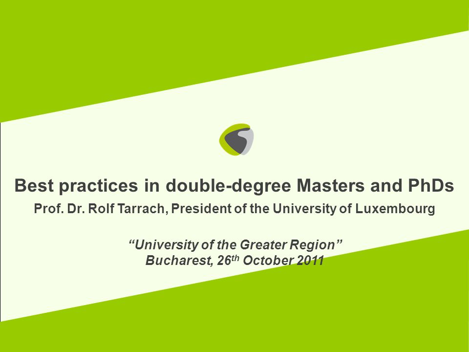 Best practices in double-degree Masters and PhDs
