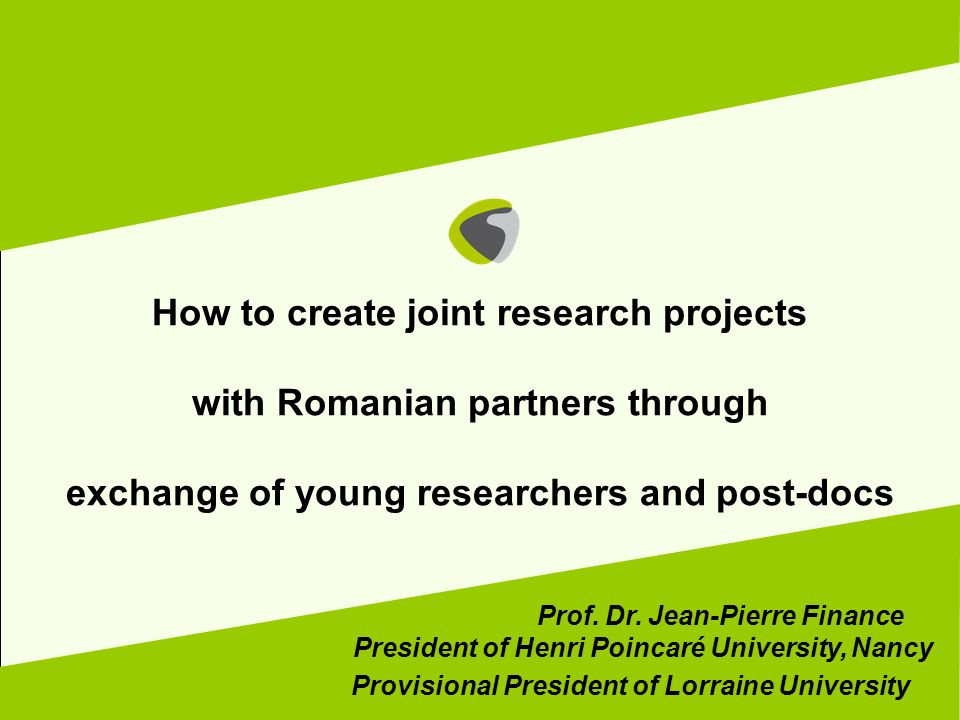 How to create joint research projects with Romanian partners through