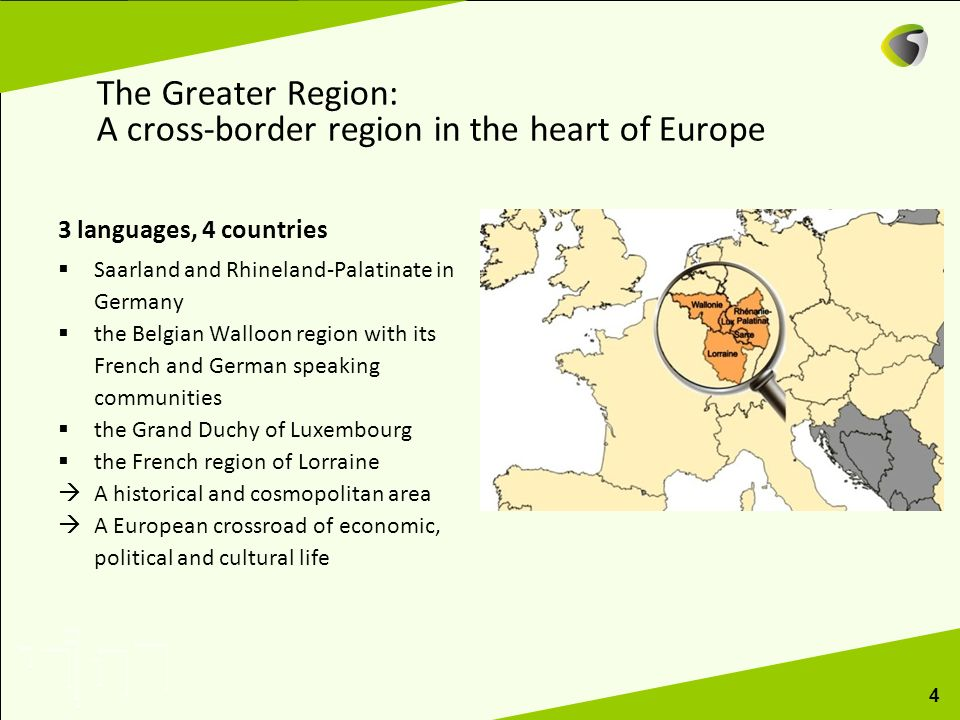 The Greater Region: A cross-border region in the heart of Europe