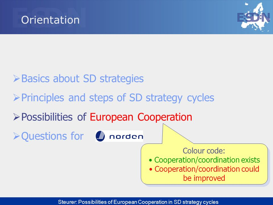 Basics about SD strategies Principles and steps of SD strategy cycles
