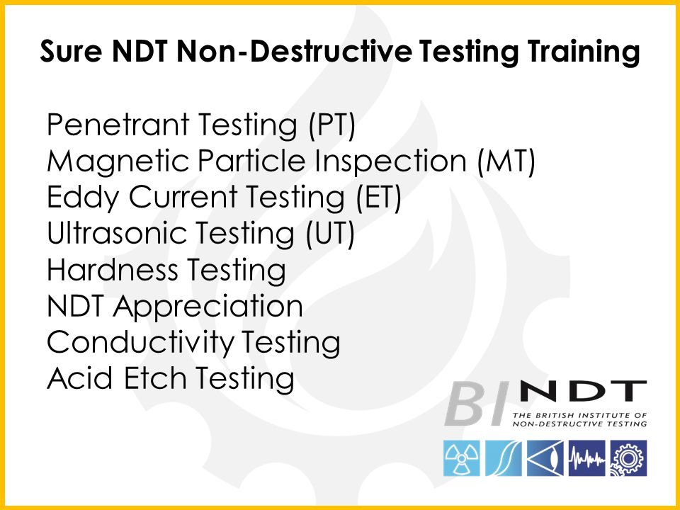 Sure NDT Non-Destructive Testing Training