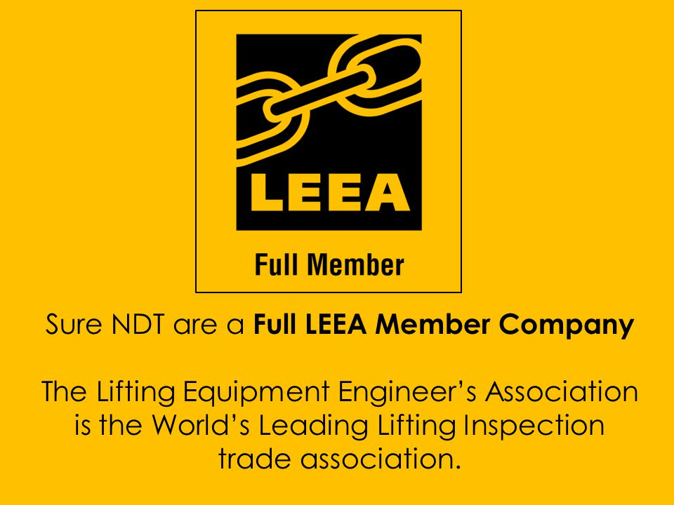 Sure NDT are a Full LEEA Member Company