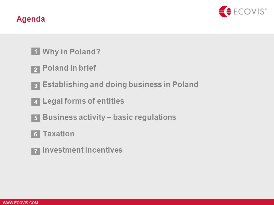 Establishing and doing business in Poland Legal forms of entities