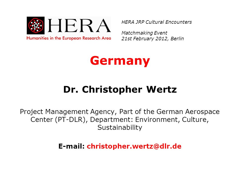 E-mail: christopher.wertz@dlr.de