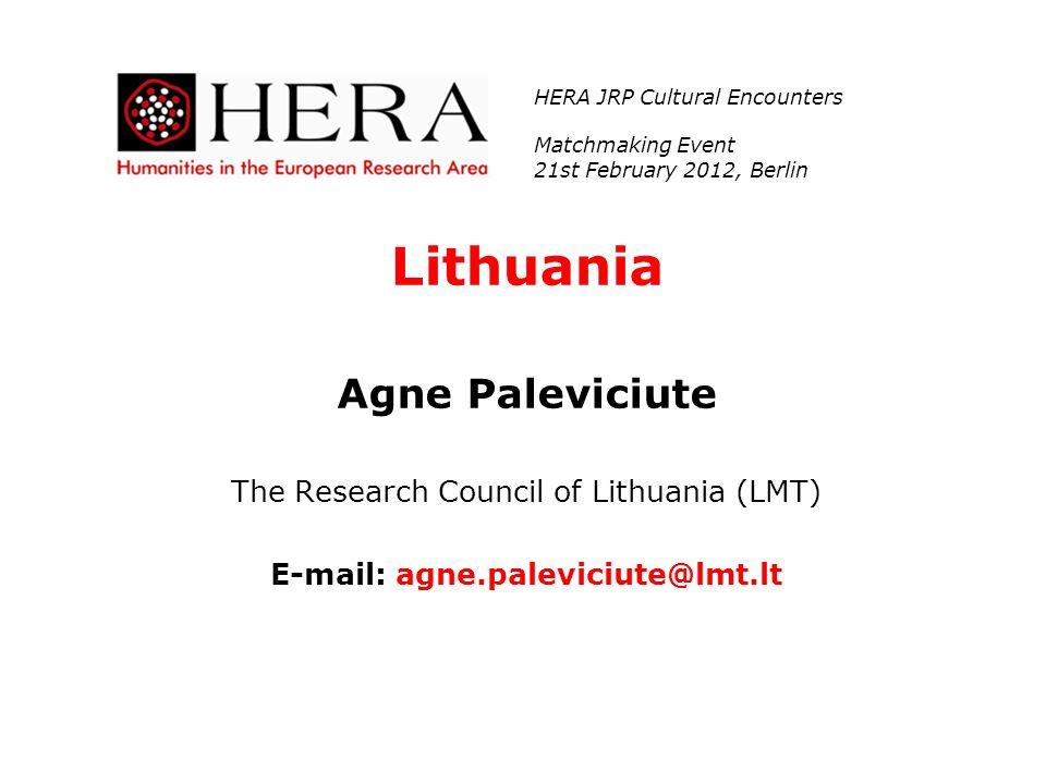 E-mail: agne.paleviciute@lmt.lt