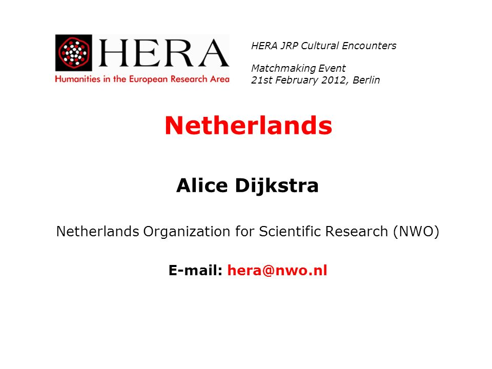 Netherlands Organization for Scientific Research (NWO)