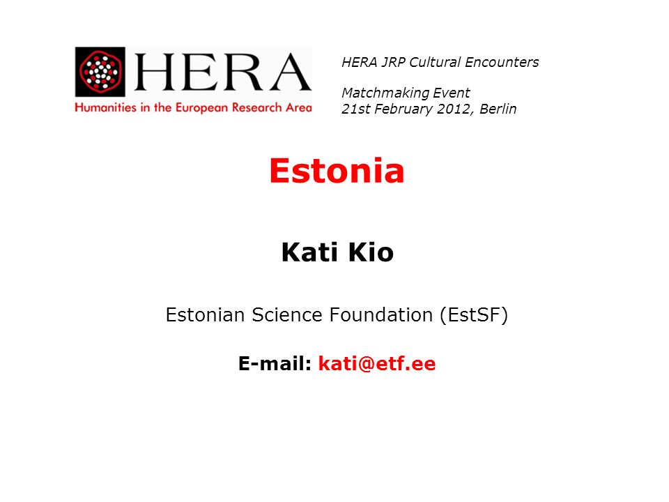 Estonian Science Foundation (EstSF)