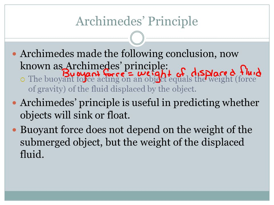 Density and Buoyancy ppt video online download – Archimedes Principle Worksheet