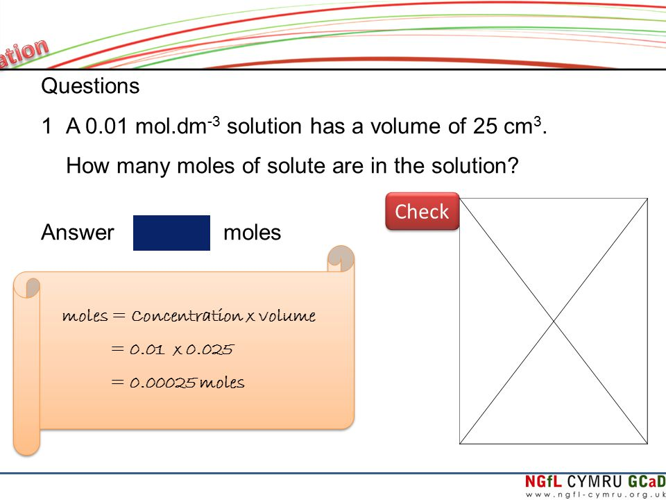 how to find moles from concentration