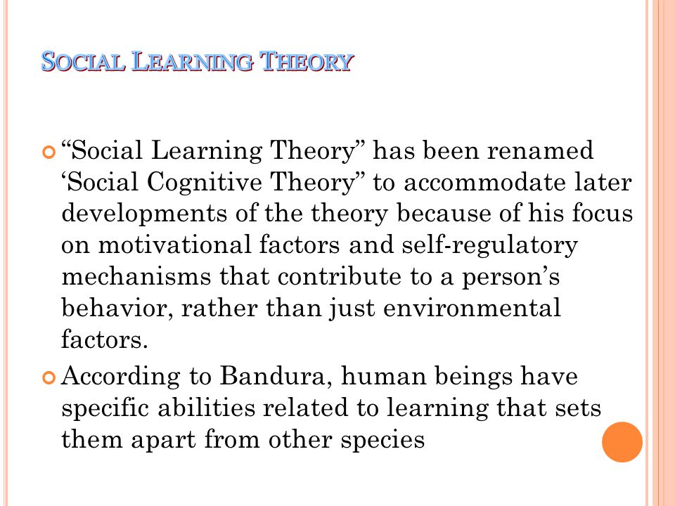 Social Learning Is More Than Just >> Social Learning Theory - ppt download