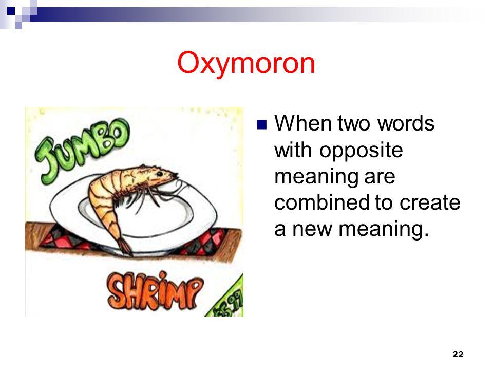 oxymoron antithesis