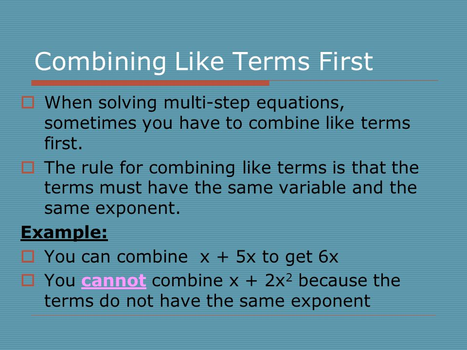 Combine like terms worksheet no negatives