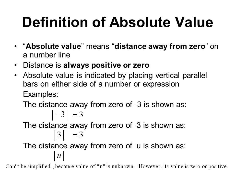 Zero Definition Exam 3 Material Inequa...