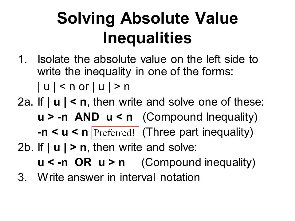 writing absolute value inequalities in interval notation