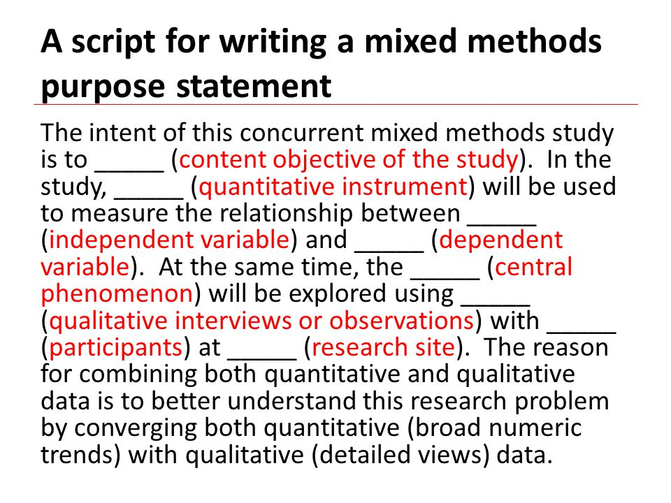 what is concurrent mixed methods A concurrent mixed-methods design was adopted for this study this design comprised quantitative and qualitative components, and the processes for both components.