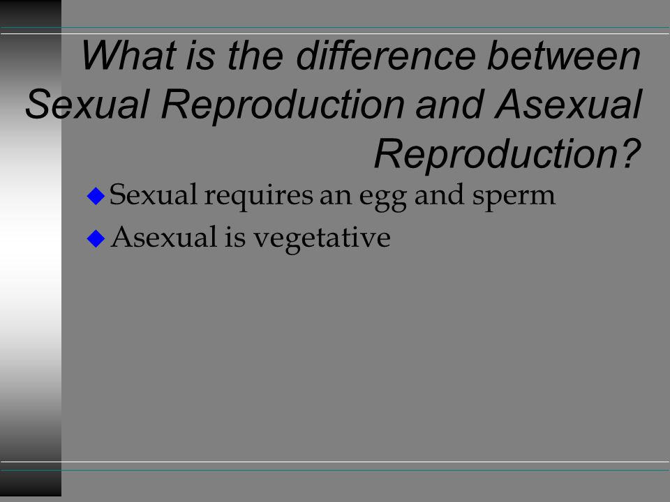 What is the difference between Sexual Reproduction and Asexual Reproduction