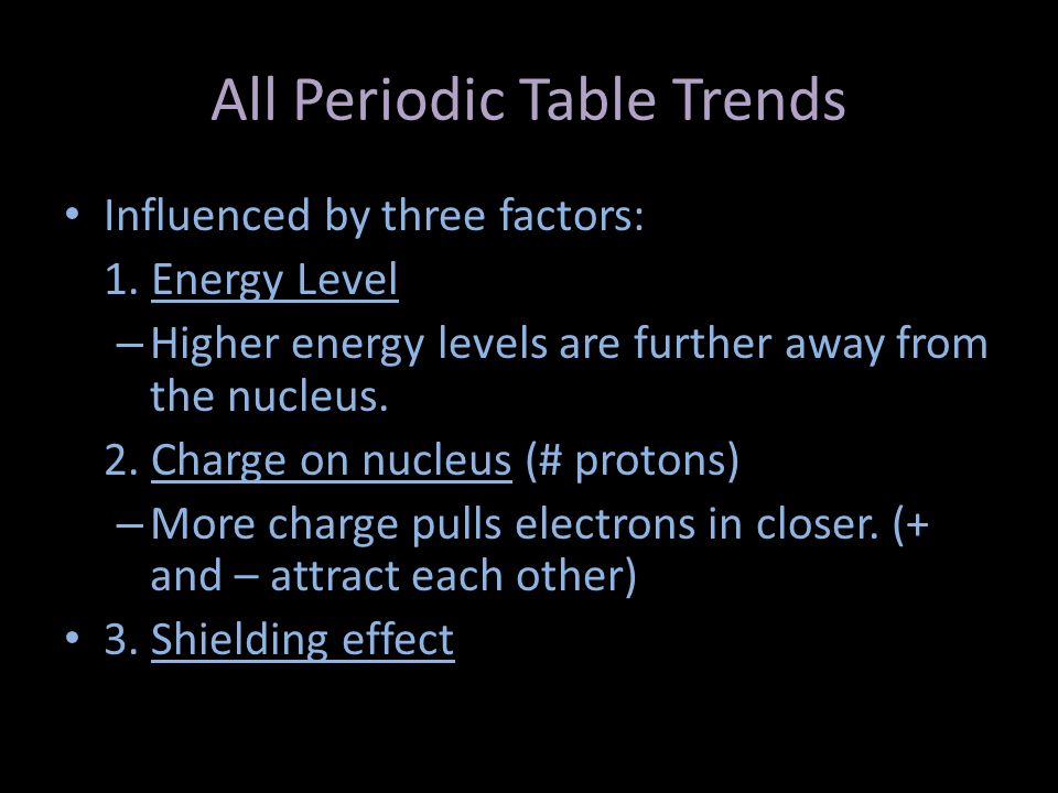 Periodic trends chapter 6 section ppt video online download all periodic table trends urtaz Choice Image