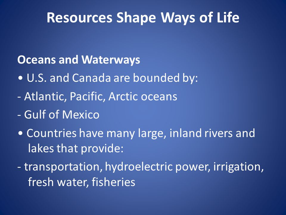 Natural Resources Found Among The Atlantic And Gulf Of Mexico