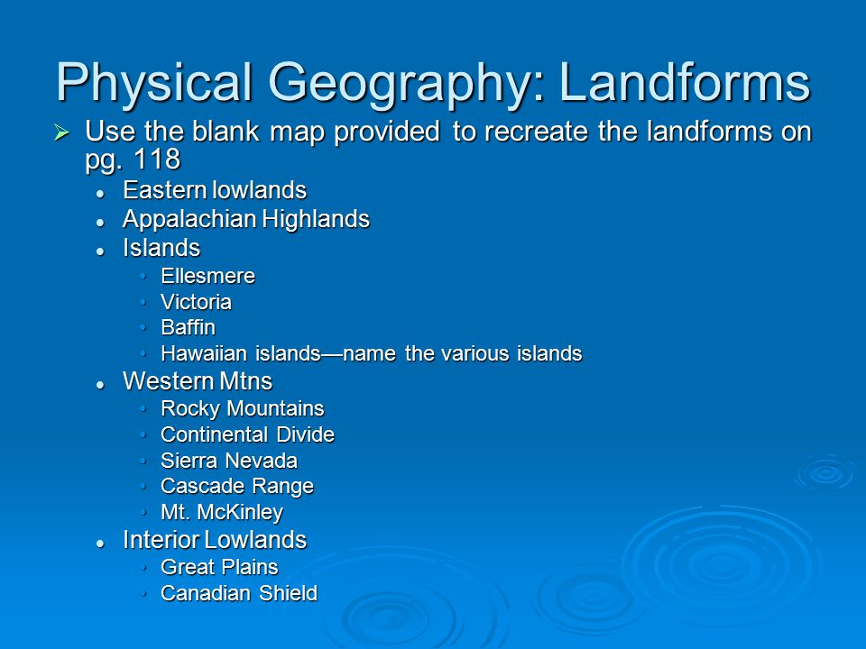 6 Physical Geography Landforms