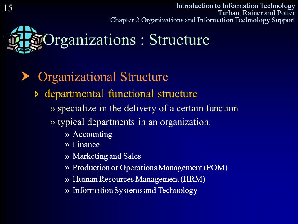 Organizations : Structure