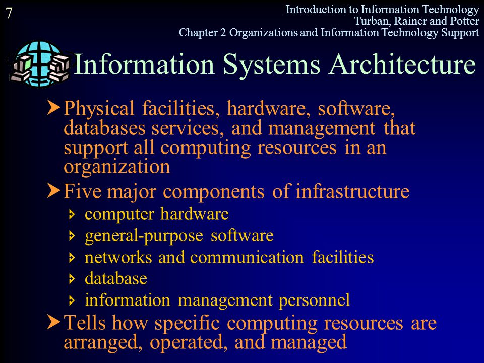 Information Systems Architecture