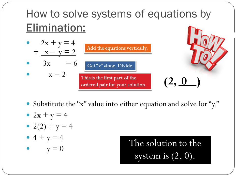 How to solve systems of equations by Elimination: