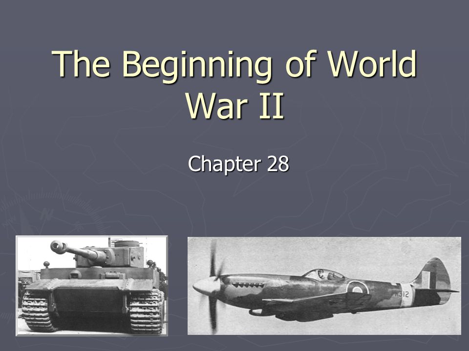 an analysis of the beginning of world war ii During world war ii a global war doesn't come cheap world war ii stimulated the it was a much different world than it had been at the beginning of.