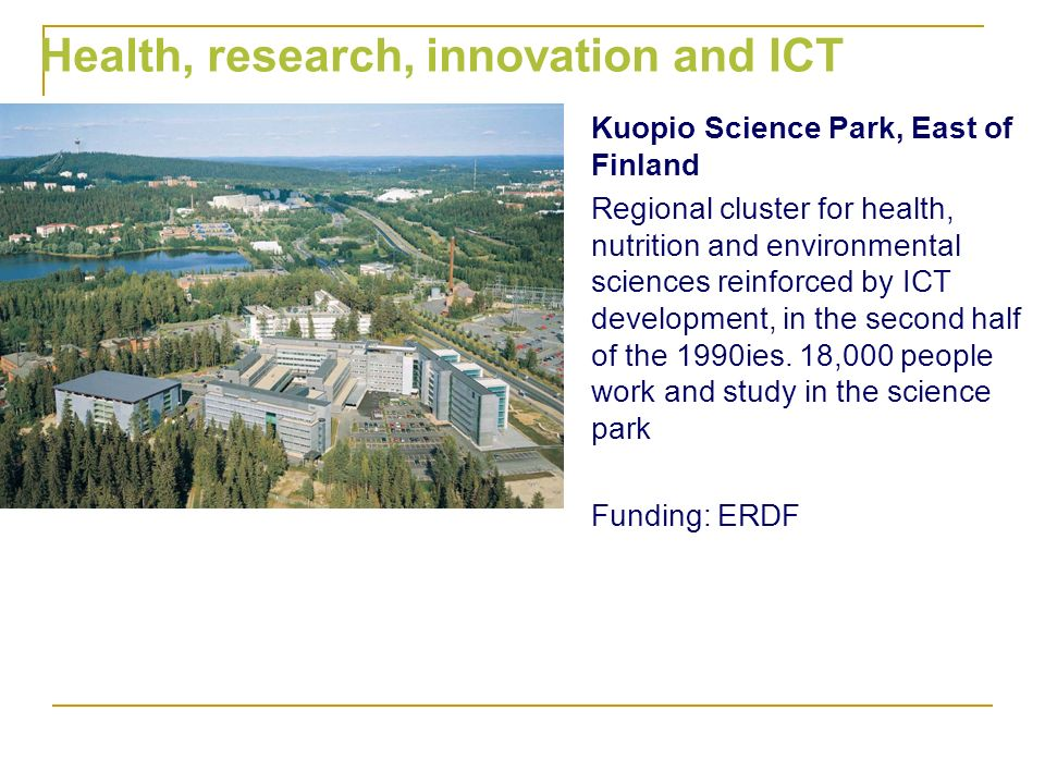 Health, research, innovation and ICT