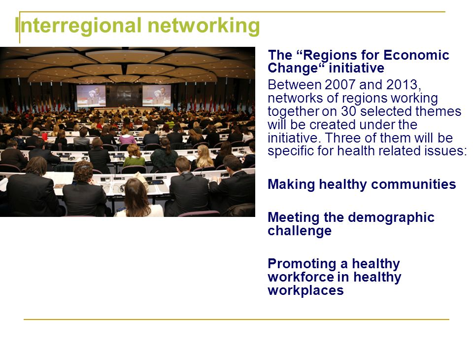 Interregional networking