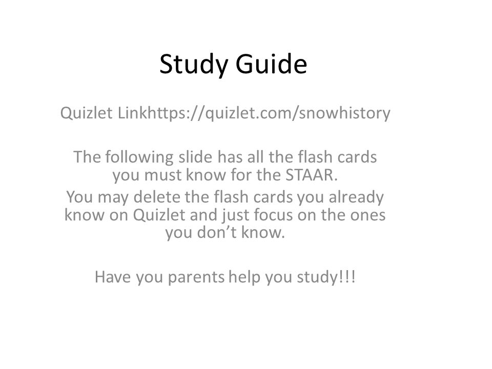 Example of quizlet