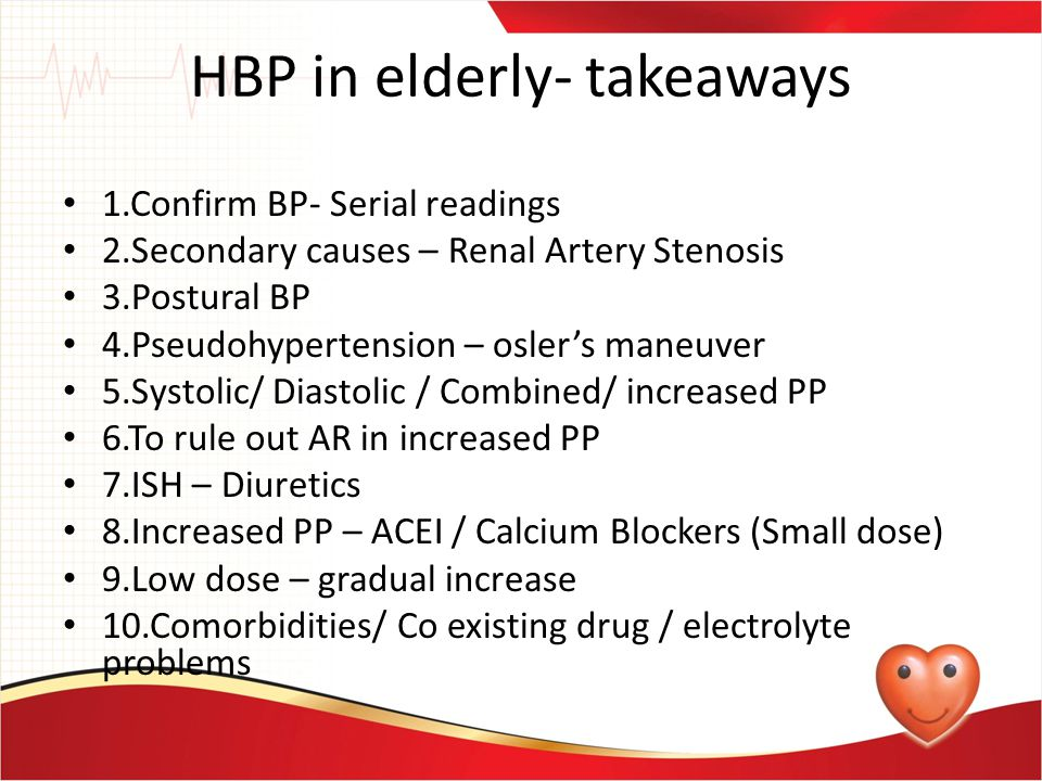 HBP in elderly- takeaways