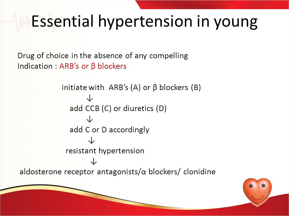 Essential hypertension in young