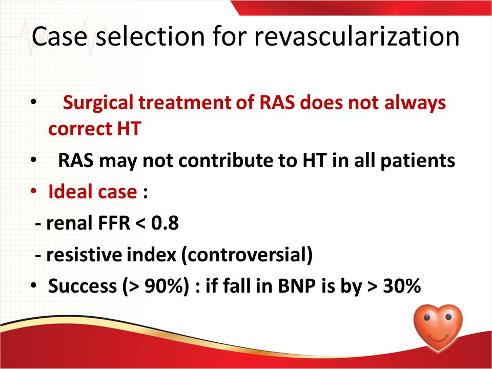 Case selection for revascularization