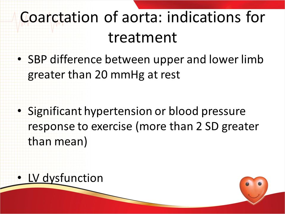Coarctation of aorta: indications for treatment