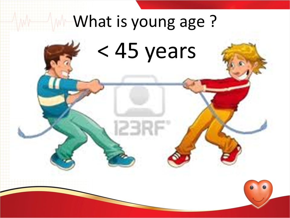 What is young age < 45 years