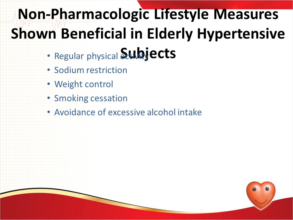 Non-Pharmacologic Lifestyle Measures Shown Beneficial in Elderly Hypertensive Subjects