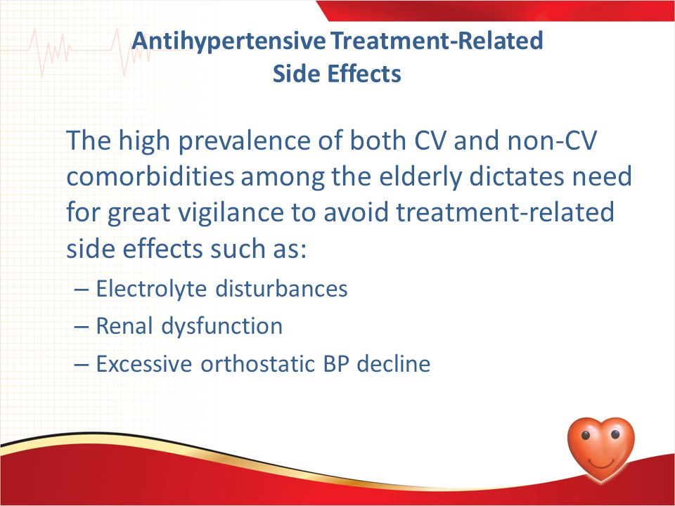 Antihypertensive Treatment-Related Side Effects