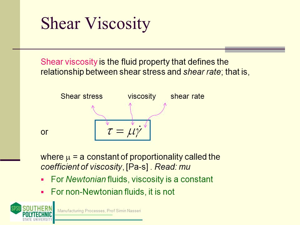 what is the relationship between fluid flow and viscosity