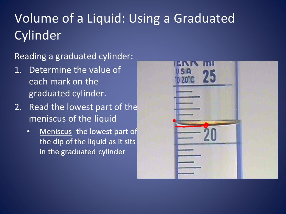 Volume of a Liquid: Using a Graduated Cylinder