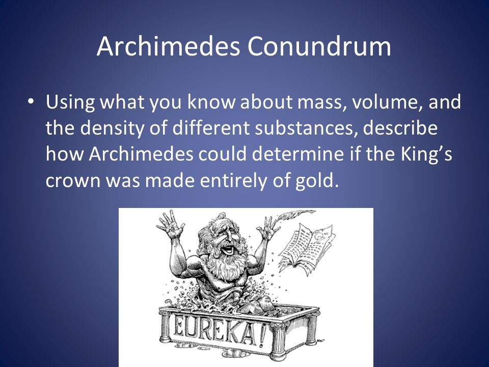Archimedes Conundrum
