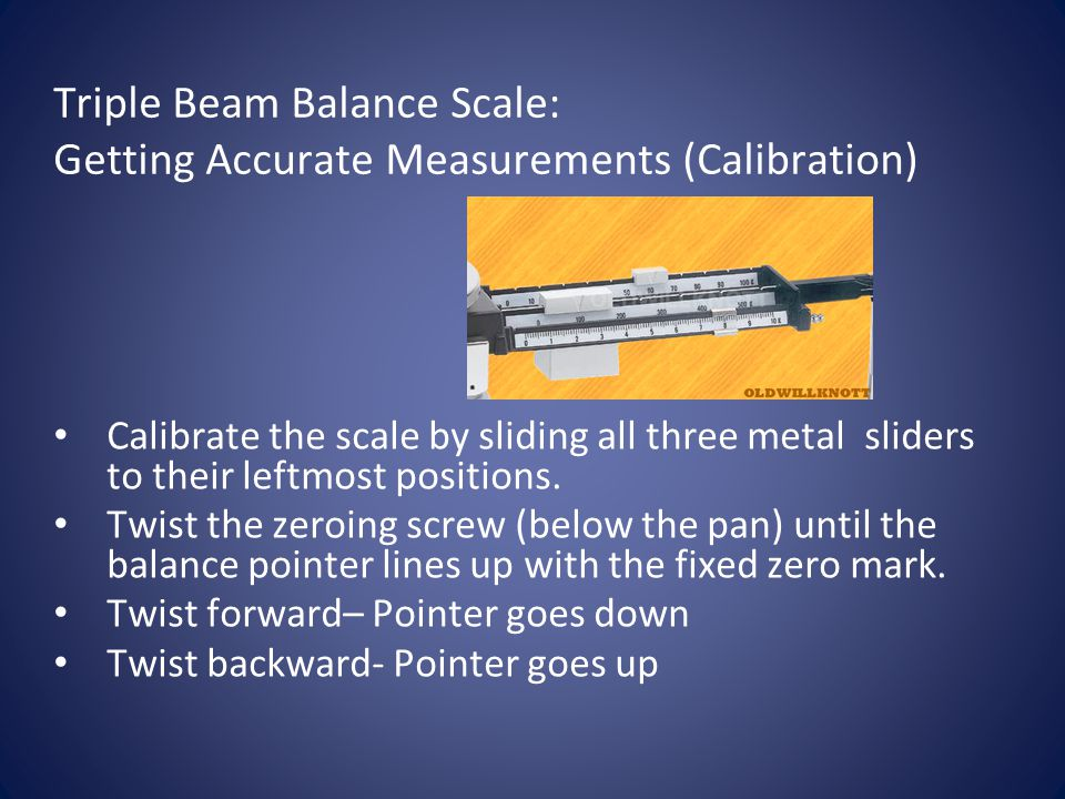 Triple Beam Balance Scale: Getting Accurate Measurements (Calibration)