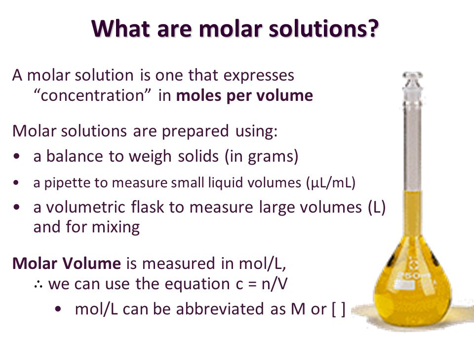 What are molar solutions
