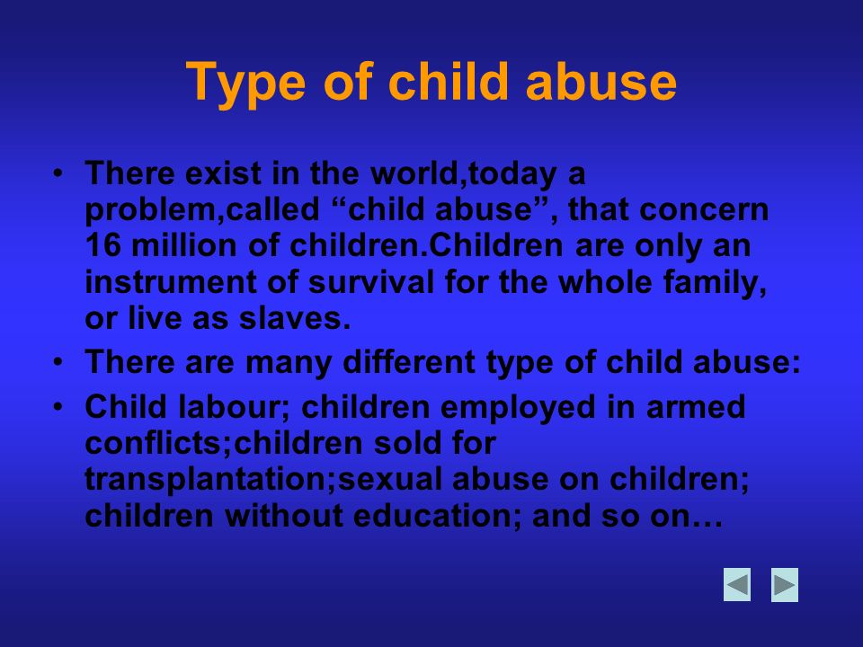 Type of child abuse