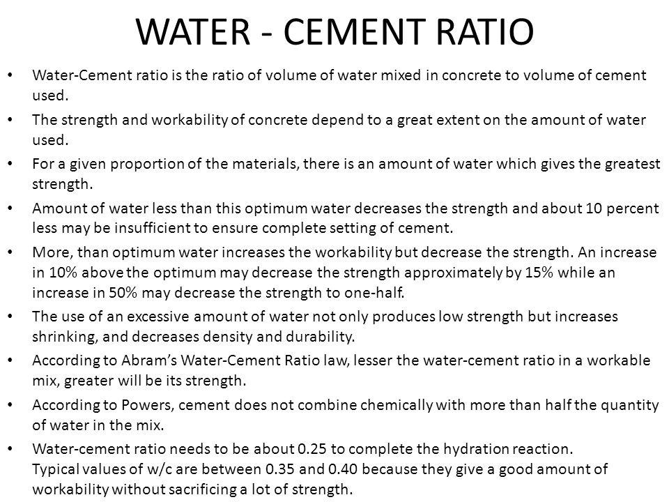 Concrete It S Ingredients Amp Properties Ppt Download