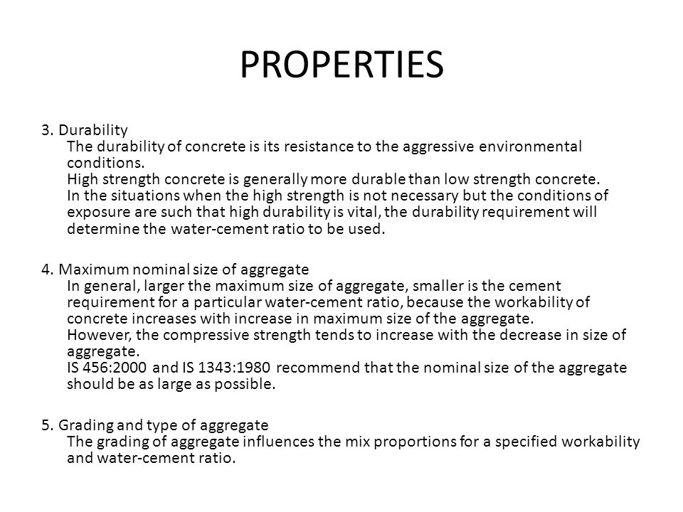 Properties Of Concrete : Concrete it s ingredients properties ppt download