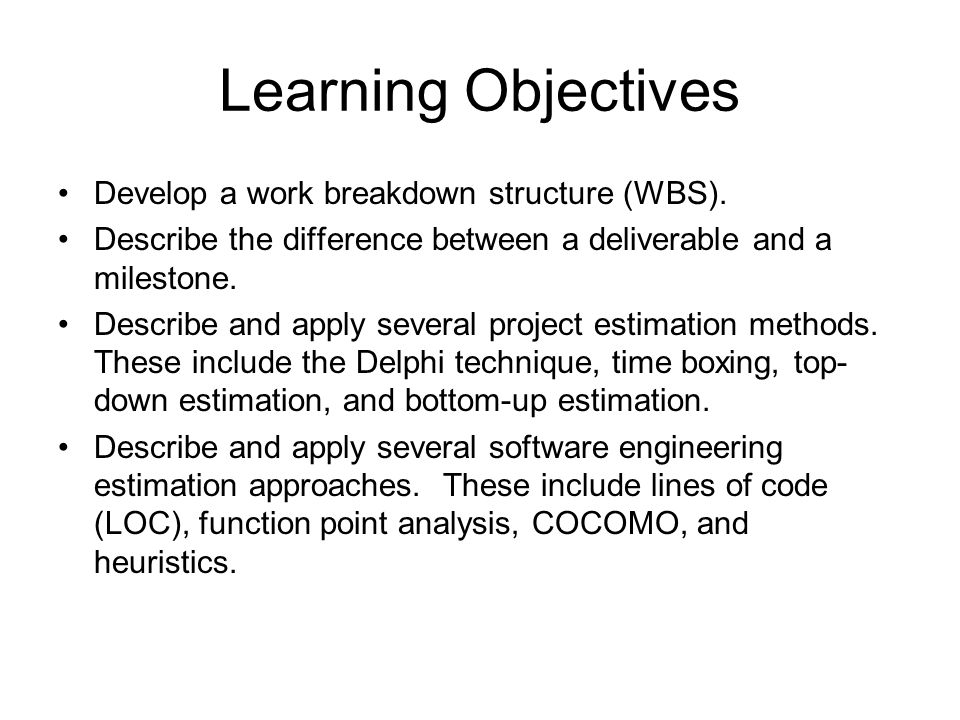 how to develop learning objectives