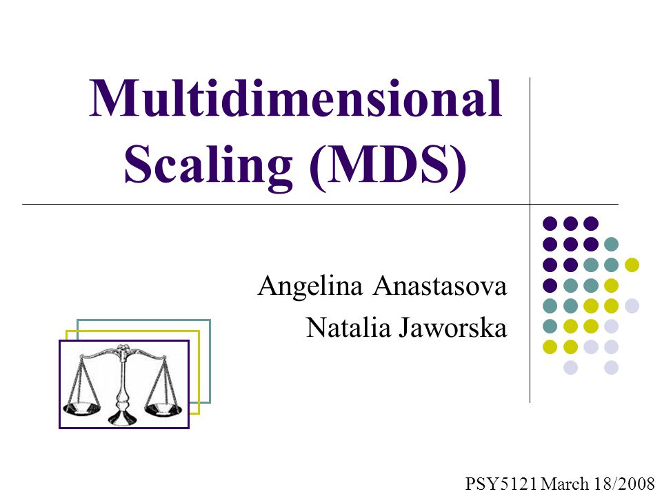 multidimensional scaling Metric multidimensional scaling creates a configuration of points whose inter-point distances approximate the given dissimilarities this is sometimes too strict a requirement, and non-metric scaling is designed to relax it a bit.
