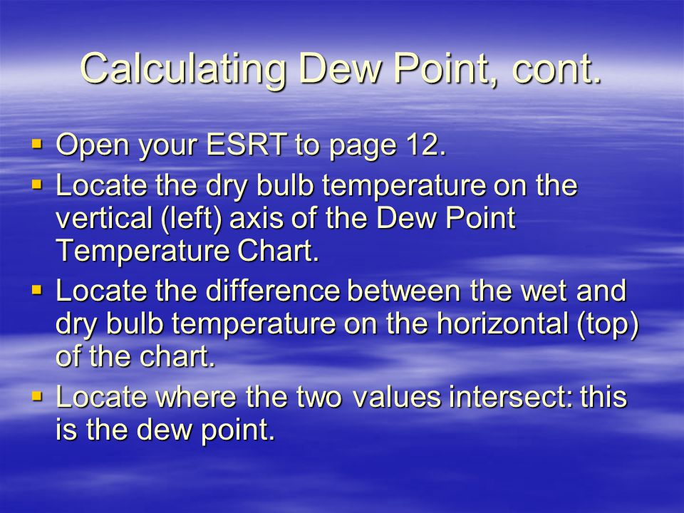 how to find wet bulb temperature