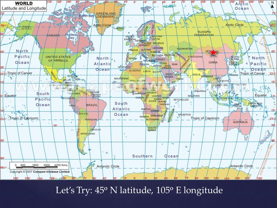 Absolute Location Using Latitude And Longitude Ppt Video - Argentina map latitude