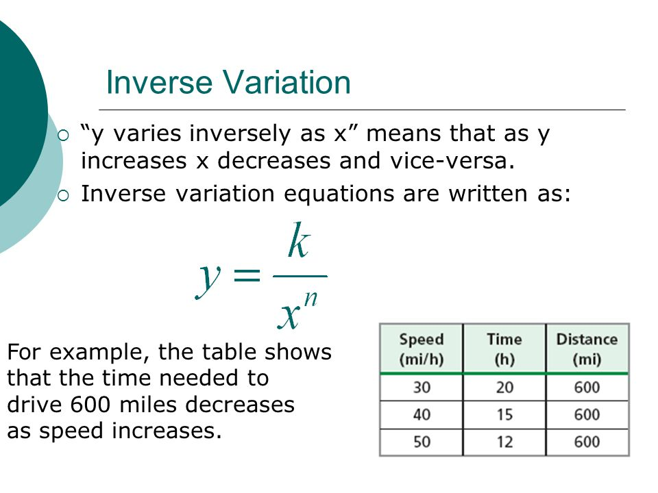 Inverse Variation: ppt video online download